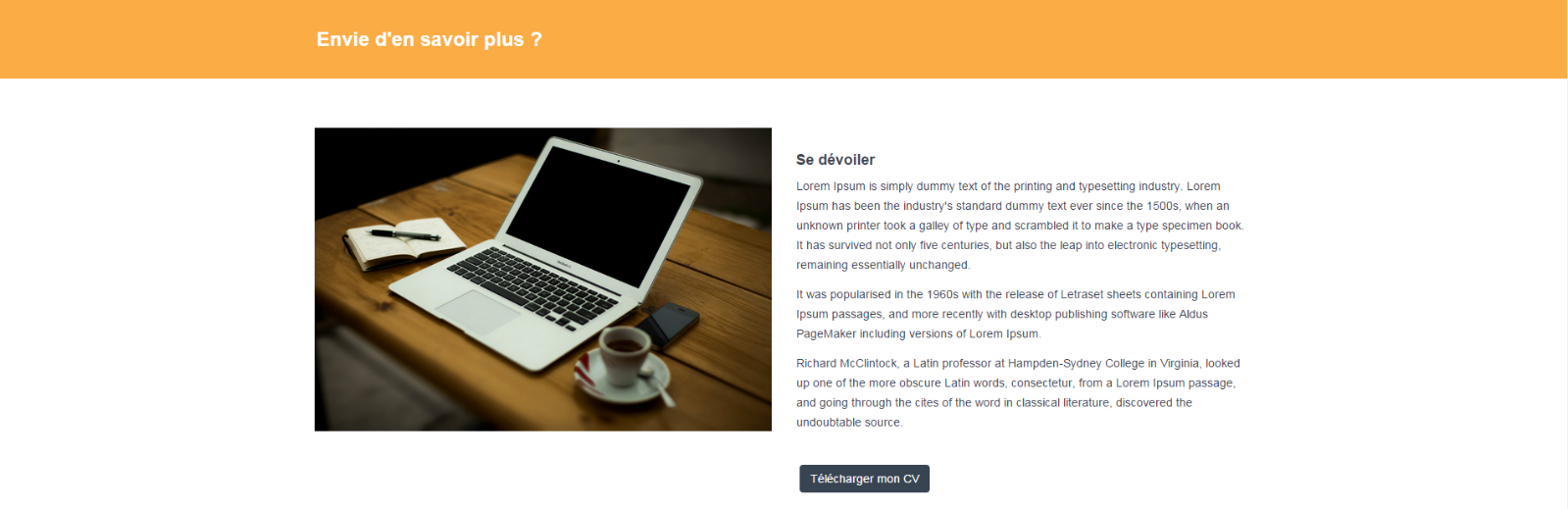 cr u00e9er un site portfolio avec bootstrap